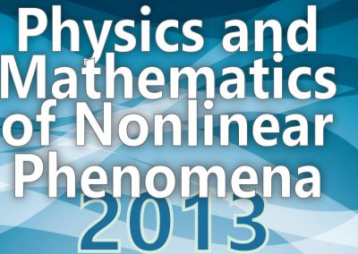 Materiale Informativo per Physics and Mathematics of Nonlinear Phenomena 2013